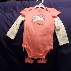 Carter's 3 piece outfit size 6mths nwts